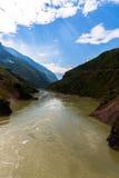 Jinsha River view on the way from Lijiang to Lugu lake Stock Photo