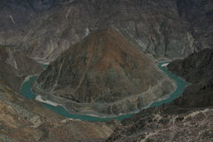 Ποταμός Jinsha (ποταμός πηγούνι-Sha) Στοκ εικόνες με δικαίωμα ελεύθερης χρήσης