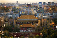 Jinshang Park Drum Tower Beijing China Stock Photography