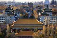 Jinshang Park Drum Tower Beijing China Royalty Free Stock Photography