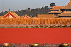 Jinshang Park Forbidden City Yellow Roofs Beijing Royalty Free Stock Photography