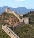 中国长城在北京附近的- Jinshanling 库存图片