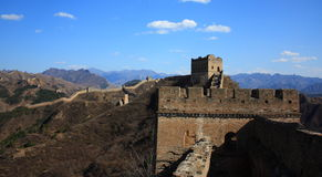 The jinshanling great wall. The most beautiful wild great wall Royalty Free Stock Photo