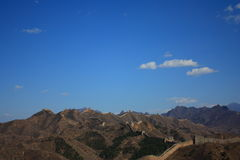 The jinshanling great wall. The most beautiful wild great wall Royalty Free Stock Images
