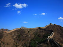 The jinshanling great wall. The most beautiful wild great wall Stock Image