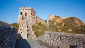 The jinshanling great wall. The most beautiful wild great wall Stock Photos