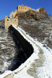 The Jinshanling Great Wall Winter in Chengde Hebe, China  Royalty Free Stock Images