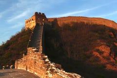 Jinshanling stor vägg i Peking Arkivfoto