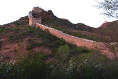 Jinshanling stor vägg i Peking Arkivfoton