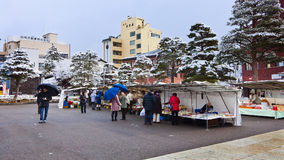 Jinya-mae Morning Market, Takayama Royalty Free Stock Images