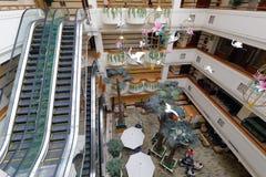 jinyan旅馆俯视的大厅  库存照片