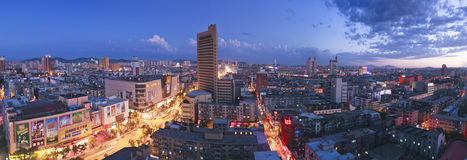 Jinzhou City, Liaoning Province cityscape Royalty Free Stock Images