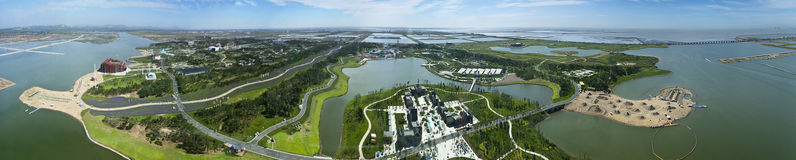Jinzhou City, Liaoning Province, the Expo panorama Royalty Free Stock Images