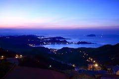 jioufen заход солнца моря Стоковое фото RF