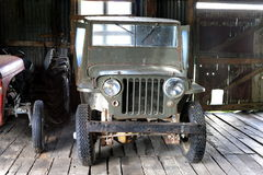 Jipe americano do carro na propriedade Herberton Fotos de Stock Royalty Free