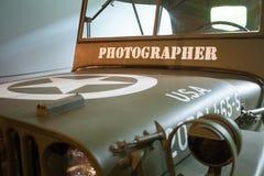 Jipe de Willy de um fotógrafo Second World War foto de stock