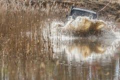 Jipe na água Fotos de Stock Royalty Free