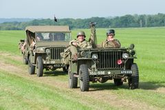 Jipes das forças armadas do vintage Fotografia de Stock Royalty Free