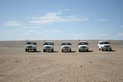 Jipes no deserto de Gobi, Dunhuang China Imagem de Stock Royalty Free