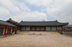 Jipgyeongdang Salão do palácio de Gyeongbokgung em Seoul, Coreia Fotos de Stock Royalty Free