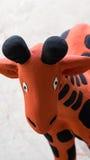 Jirafa anaranjada Clay Doll Imágenes de archivo libres de regalías