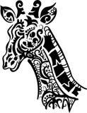 Jirafa decorativa ilustración del vector