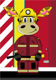 Jirafa del bombero de la historieta stock de ilustración