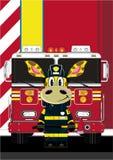 Jirafa del bombero de la historieta ilustración del vector