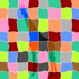 Jirafa en mosaico Fotos de archivo libres de regalías