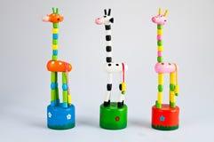 Jirafa falsa, juguetes Fotos de archivo libres de regalías