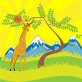 Jirafa y árbol libre illustration