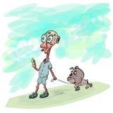 Jirafa y dogo del cartoone del vector Fotos de archivo