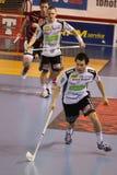 Jiri Curney and Michal Dziurdzik -  floorball Royalty Free Stock Images
