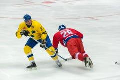 Jiri Krasny (26) e Tomas Eriksson (27) Fotografia Stock