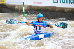 Jiri Prskavec - water slalom stock photo