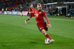 Jiri Skalak. PRAGUE 27/03/2015 _ Friendly match Czech Republic U21 - England U21 Royalty Free Stock Photos