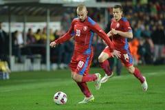 Jiri Skalak and Tomas Holes. PRAGUE 27/03/2015 _ Friendly match Czech Republic U21 - England U21 Stock Photo