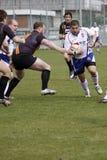 Jiri Skall i rugbymatch royaltyfri fotografi
