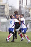 Jiri Skall and Ondrej Kutil in rugby action Stock Photo