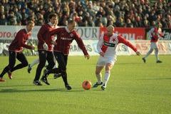 Jiri Stajner - Slavia Praag Stock Foto's