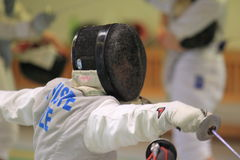Jiri Syriste - foil fencing Stock Photography