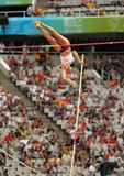 Jirina Ptacnikova of Czech Republic. Competes on Women Pole Vault during the 20th European Athletics Championships at the Olympic Stadium on July 30, 2010 in Stock Photo