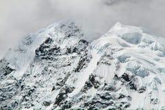 Jirishanca Cordillera Huayhuash, Peru Arkivfoto