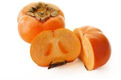 Jiro kaki. (Persimmon, sharon fruit ) on white background Stock Photography