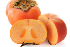 Jiro kaki. (Persimmon, sharon fruit ) on white background Stock Photo