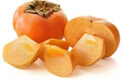 Jiro kaki. (Persimmon, sharon fruit ) on white background Royalty Free Stock Photo