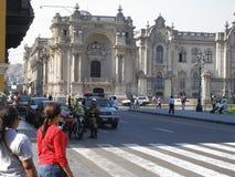 Jiron de la Union Street in Lima, Peru Stockfoto