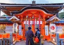 Jishu-jinja在京都 免版税库存图片