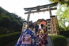 Jishu-jinja在京都 库存图片