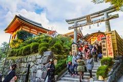 Jishu-jinja i Kyoto Royaltyfri Bild